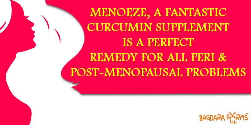 Curcumin supplement Perimenopause , reduce fights meopause symptom with menoeze